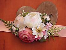 Pierka - Náramok na ruku - Pink, ivory a biela - 8010119_