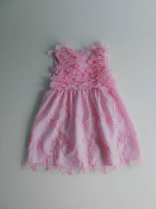 Detské slávnostné ružové šaty veľ. 74   denise. - SAShE.sk ... f534190c0b8
