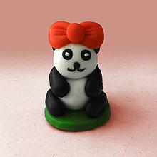 Hračky - Mini panda figúrka (s mašličkou) - 8008627_