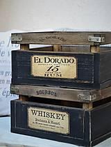 Nábytok - Debnička Rum alebo Whiskey - 8009444_