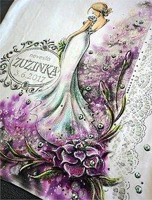 Tričká - kráľovná ruží - rozlúčkové tričko pre nevestu - 8014603_