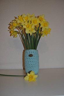 Dekorácie - Bledomodrá váza - 8012484_