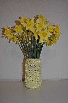 Dekorácie - Bledožltá váza - 8012902_