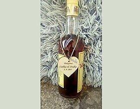 Darčeky pre svadobčanov - Na svadobné vínko (stužky na víno) - 8011064_