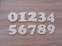Polotovary - Drevené čísla na vyskladanie 8cm - 8010854_
