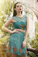 - Smaragdovo zelené s výšivkou - 8011504_