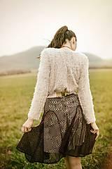Sukne - Fialová sukňa krajková - 8014062_