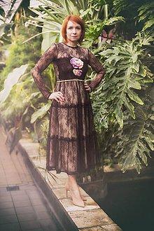 Šaty - Burgund s výšivkou,,Focus wedding,, - 8011626_
