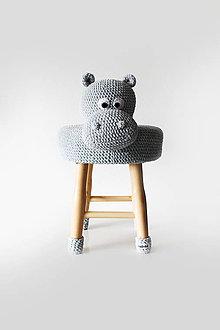 Úžitkový textil - Hroch Theo Taburetka - stolicka - 8012085_