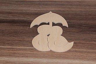 Polotovary - drevené výrezy - 8010882_