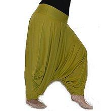 Nohavice - Turky Ušatky bambus - Zelené - 8012448_