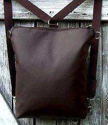 "Batohy - ""backpack 2in1 basic brown"" - Batoh & taška cez rameno - 8014436_"
