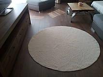 Okrúhly koberec - 100 % bavlna - priemer 150 cm
