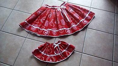 Sukne - Srdiečková suknička - 8013118_