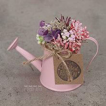 Dekorácie - Ružová mini dekorácia - 8013909_