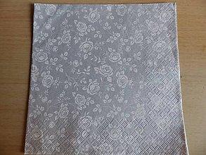Papier - strieborný vzor - 8013119_