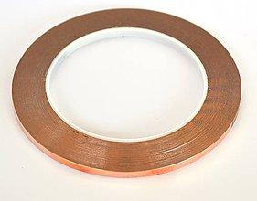 Suroviny - Strieborno medená vitrážna páska 6,40 mm - kotúč /medp64sk/ - 8016012_