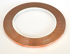 Suroviny - Strieborno medená vitrážna páska 6,40 mm - 1m /medp64s/ - 8016029_