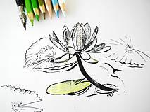 Obrazy - Kresba lekno - 8016590_