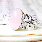 - Ornament Rose Quartz Ring in Silver / Prsteň s ruženínom v s - 8018518_