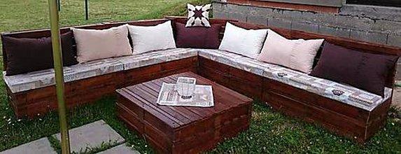 Úžitkový textil - Súprava podsedákov a vankúšov na záhradu - 8015136_