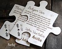 Darčeky pre svadobčanov - Poďakovanie rodičom PUZZLE 22 - 8018405_
