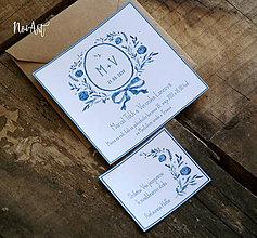 Papiernictvo - Svadobné oznámenie 16 - 8018030_