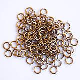 Komponenty - 5/1,2 100ks Šampaňské - eloxovaný hliník - 8015921_