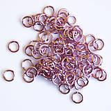 Komponenty - 5/1,2 100ks Světle růžové - eloxovaný hliník - 8015963_