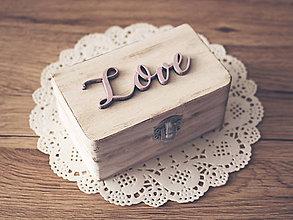 Prstene - Krabička na obrúčky - 8014949_