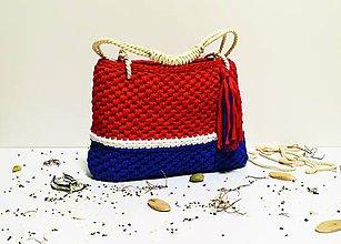 Veľké tašky - Recy taška / kôš Navy - 8018263_