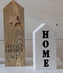 Dekorácie - Domčeky z dreva - 8018188_
