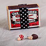 Náušnice - Centrum Slniečko: Náušničky ježko a muchotrávka - 8015265_
