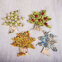 Obrázky - DSS Integra: Keramický strom štyri ročné obdobia - 1 ks - 8015076_