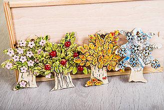 Obrázky - DSS Integra: Keramický stromček štyri ročné obdobia - set 4 ks - 8015111_