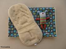 Textil - MERINO súprava do kočíka podložka a deka celoročná/ obojstranná/ univerzálna PRÍŠERKY - 8019068_