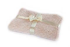 Textil - Detská deka púdrovo-ružová - 8016757_
