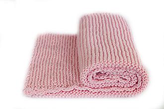 Textil - Detská deka ružová - 8016844_
