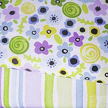 Textil - kvety; predzrážaná 100 % bavlna Nemecko, šírka 140 cm, cena za 0,5 m - 8017070_