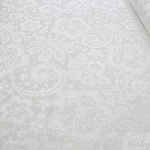 Textil - smotanová čipka (svadobná), 100 % bavlnená látka, šírka 140 cm - 8017095_
