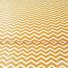 Textil - oranžový mini cikcak; 100 % bavlna Francúzsko, šírka 160 cm, cena za 0,5 m - 8017186_