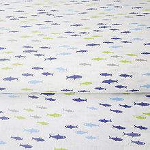 Textil - rybičky; 100 % bavlna Francúzsko, šírka 160 cm, cena za 0,5 m - 8017195_