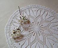 Úžitkový textil - Háčkovaná dečka Biele kvety - 8016891_