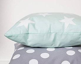 Úžitkový textil - Mint hviezdy - 8017999_
