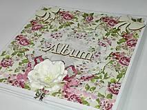 Papiernictvo - Romantický kvetinový minialbum (leporelo) - 8018875_