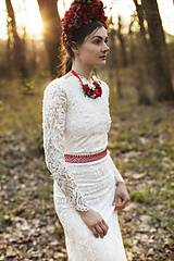 Šaty - Krajkové s dlhým rukávom,,Focus wedding,, - 8015597_