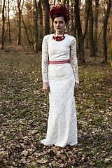 Šaty - Krajkové s dlhým rukávom,,Focus wedding,, - 8015598_