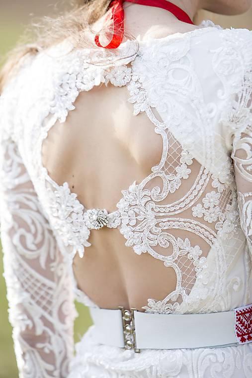 Šaty - Krajkové s dlhým rukávom,,Focus wedding,, - 8015596_