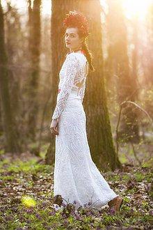 Šaty - Krajkové s dlhým rukávom,,Focus wedding,, - 8015599_