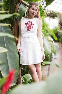 Šaty - Dlhé madeirové s výšivkou - 8015632_